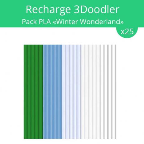 """Recharge 3Doodler : pack PLA """"Winter Wonderland"""""""