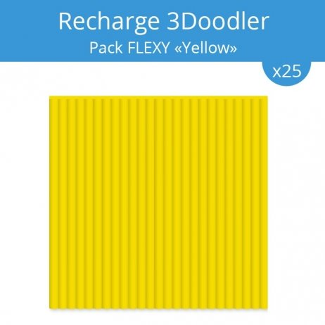 "Recharge 3Doodler : pack Flexy ""Black"""