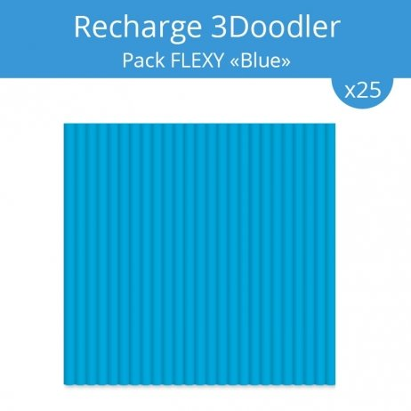 Recharge 3Doodler : pack Flexy Blue