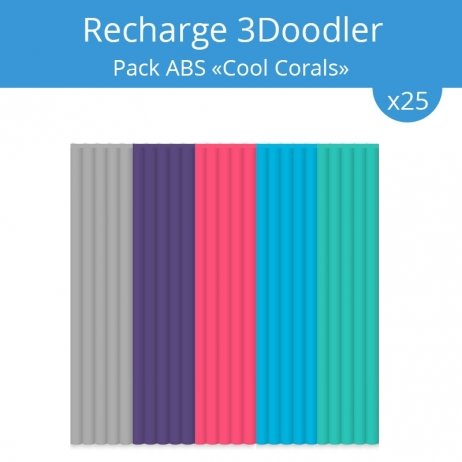 "Recharge 3Doodler : pack ABS ""Cool Corals"""